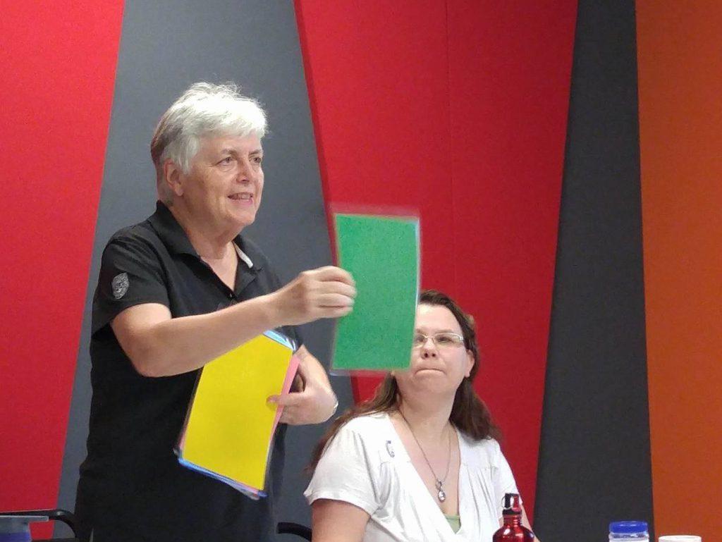 Gaetane Ferland, Advanced Timer & Marie-Chantal Côté, Grammarian & Content Evaluator for Basim