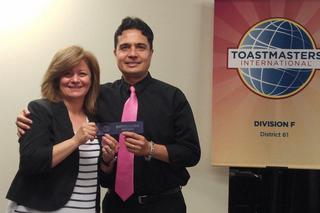 "Juan won ""Most Enthusiastic"""
