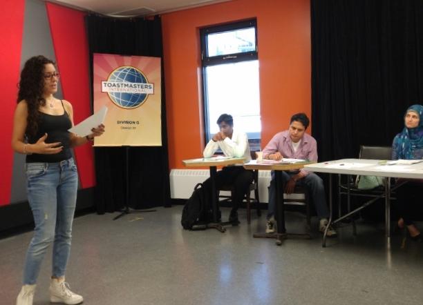 Myriam Azzi, Delivery Evaluator for David Galipeau