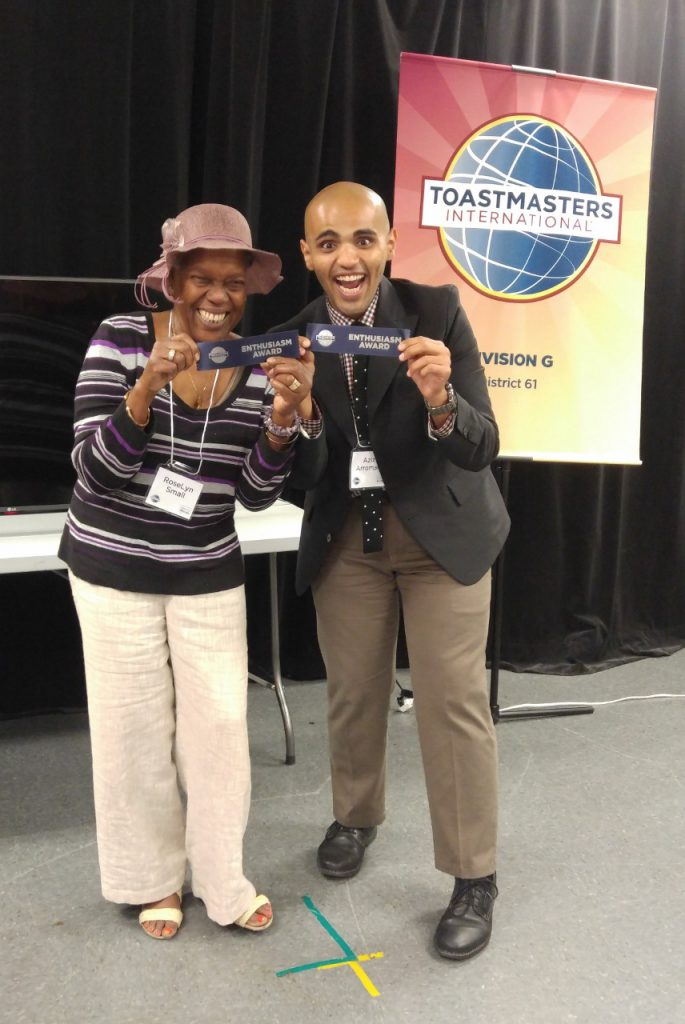 "RoseLyn and Aziz, ""Most Enthusiastic"", you can't get more enthusiastic than this!"