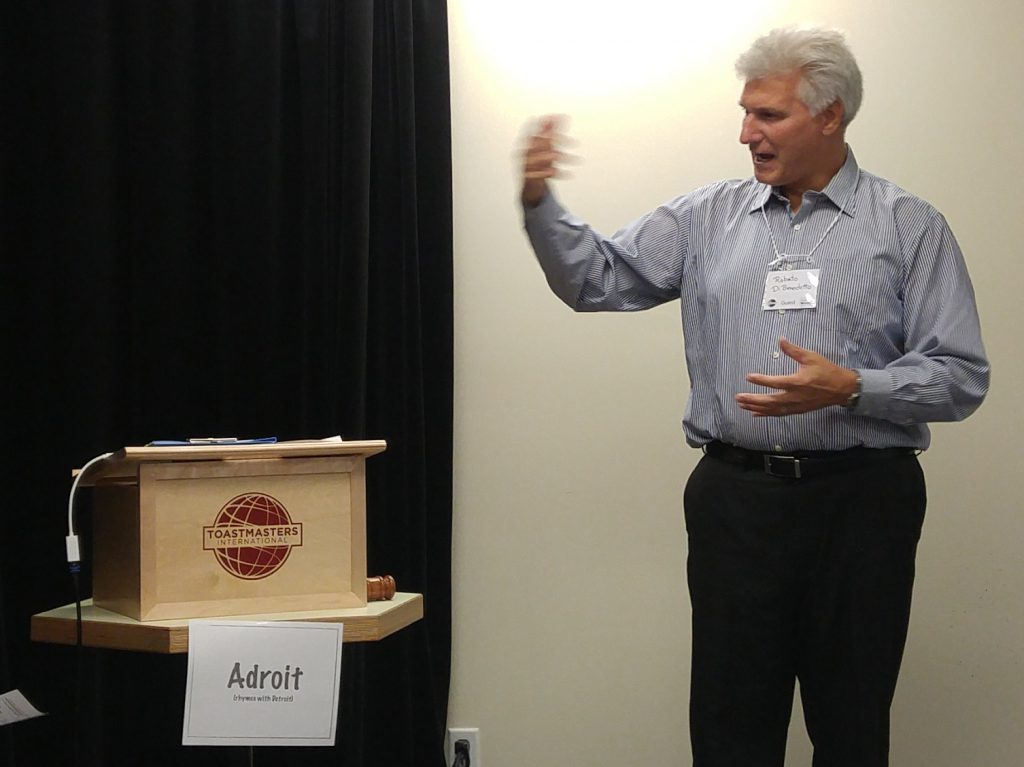 Roberto Di Bennedetto, Toastmaster, look at that passion!